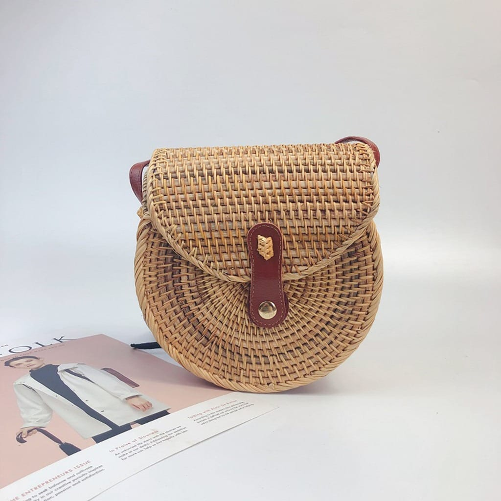 How woven leather bags made in bali