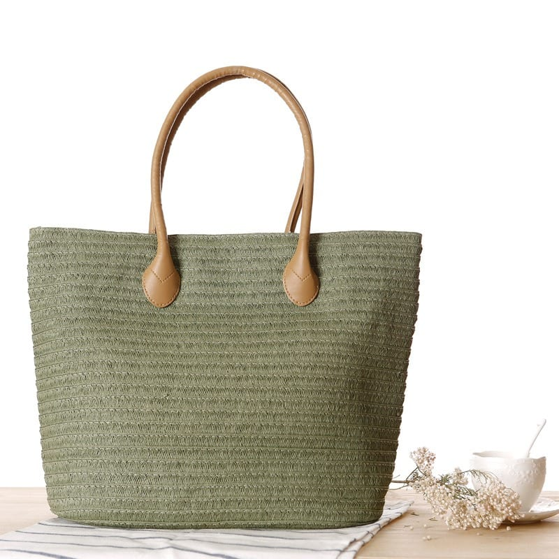 How many cheap large straw beach bag