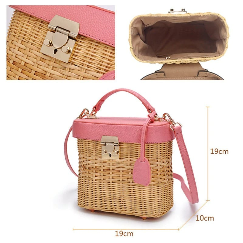 What market woven handbag best