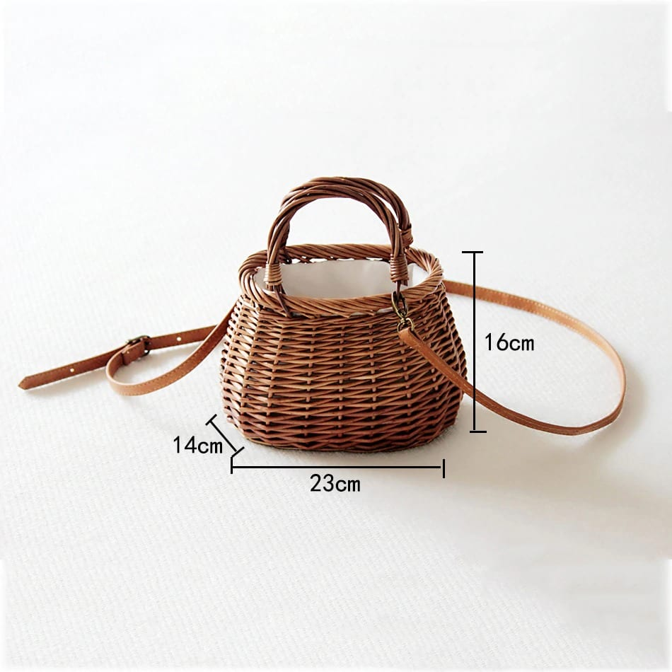 Lined straw belt bag quality