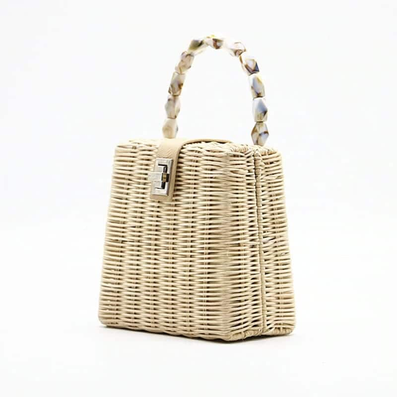 Lined straw bag