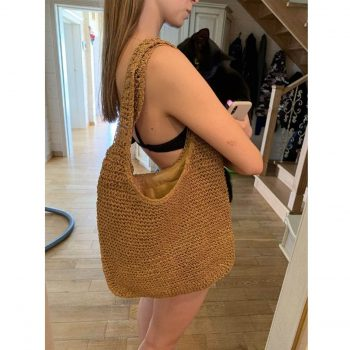 Straw Hobo Bag - Straw Bag for Summer - Straw Tote Bag photo review