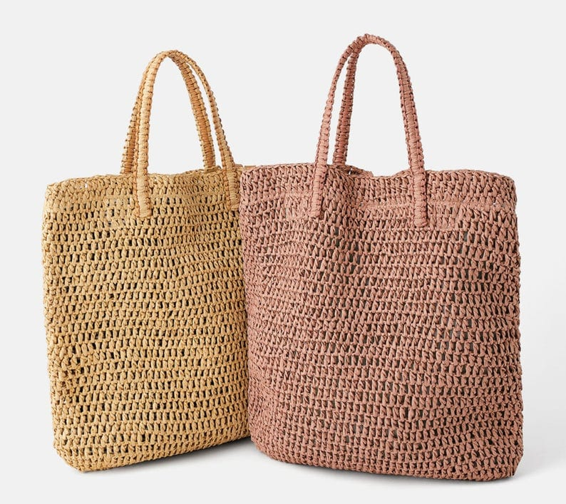 Where mango woven bucket bag premium