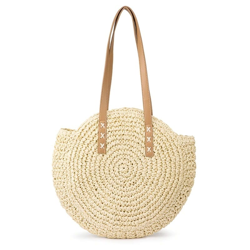 Summer woven leather bag and totes premium