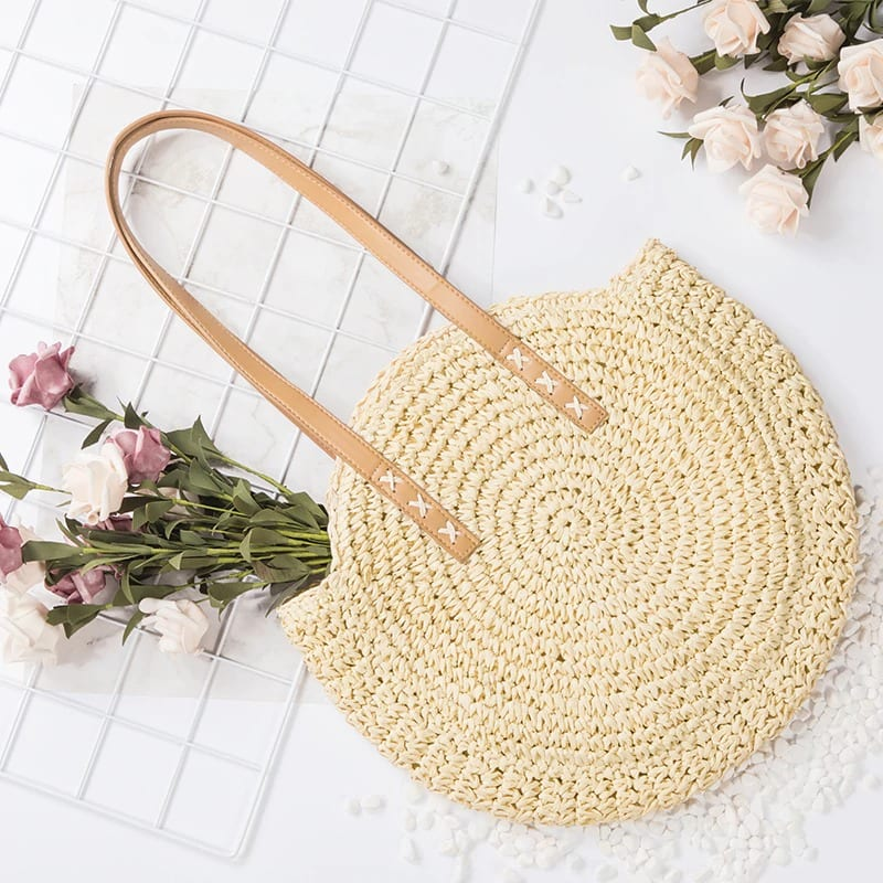 Handle woven bucket bag quality