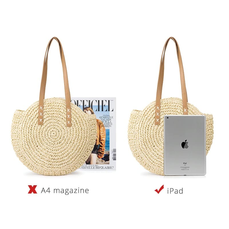 Wicker beach bags ladies