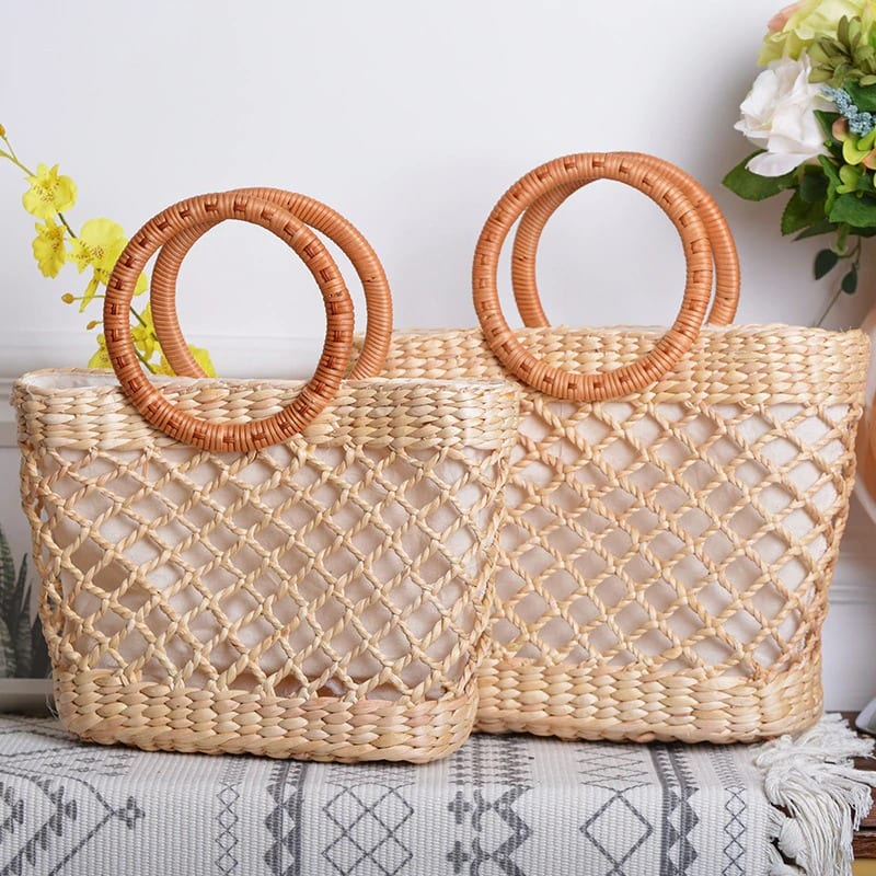 High-end large straw bag