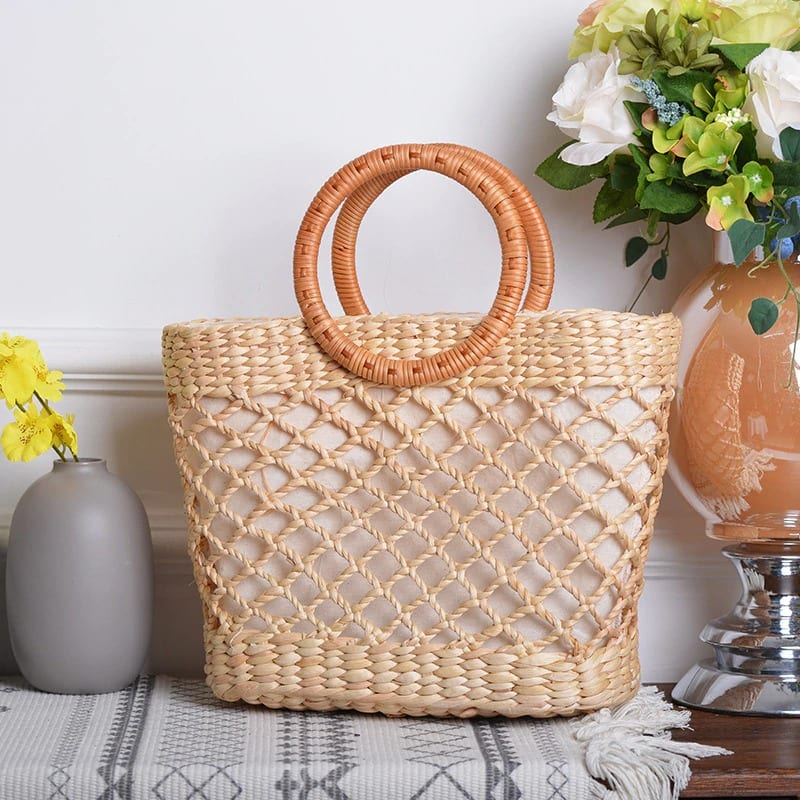 How much bohemian round straw crossbody bags