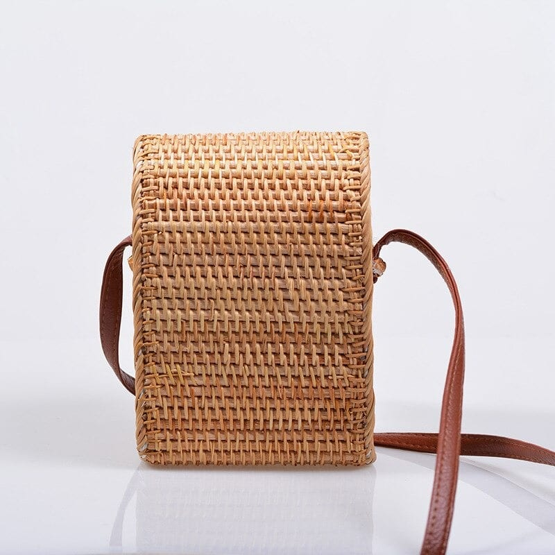 How much brown woven bucket bag