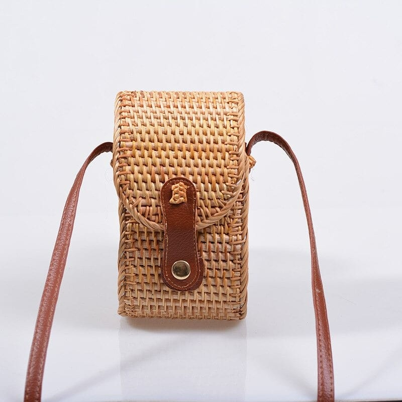Summer straw handbag and clutches