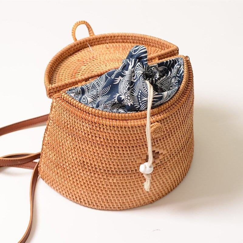 What handicaft woven bag