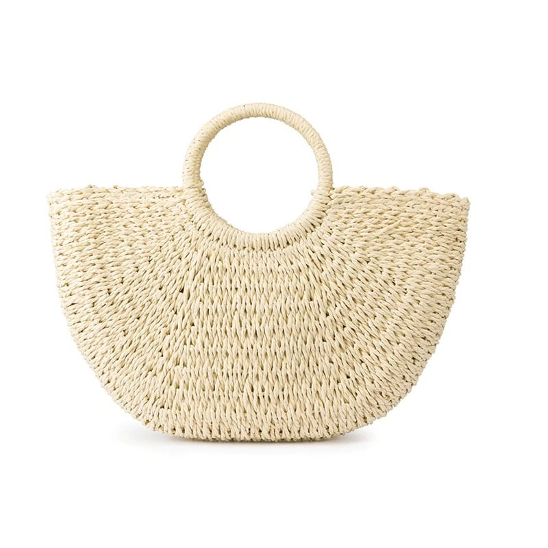 Why stripped woven leather handbag suggest