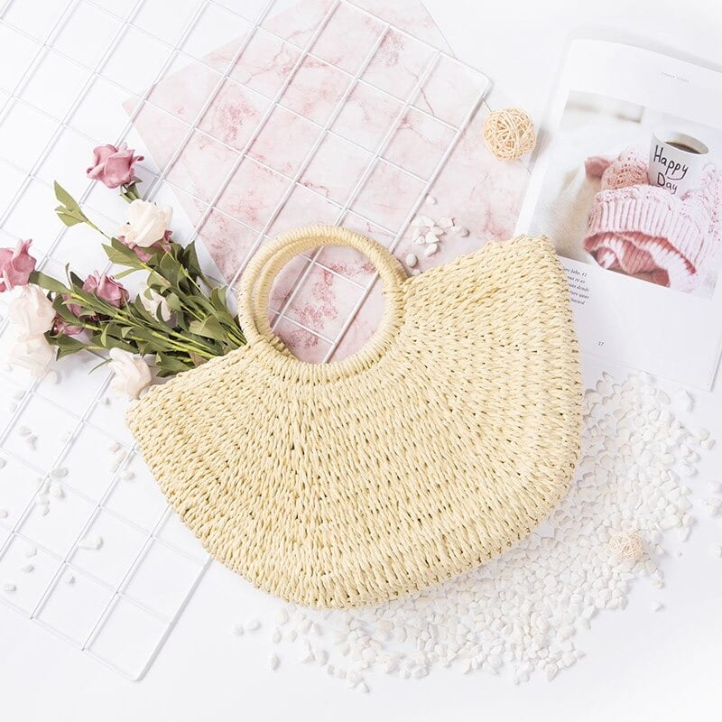 Party straw shoulder bag quality
