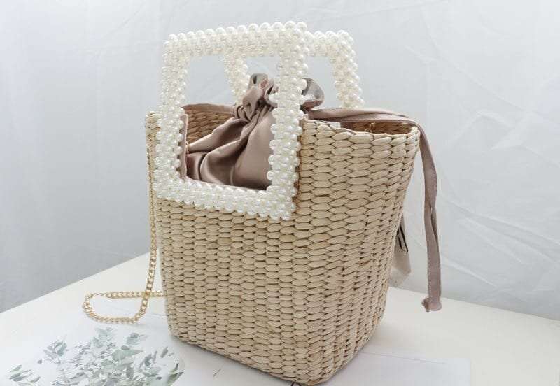 Straw tote bag bali quality