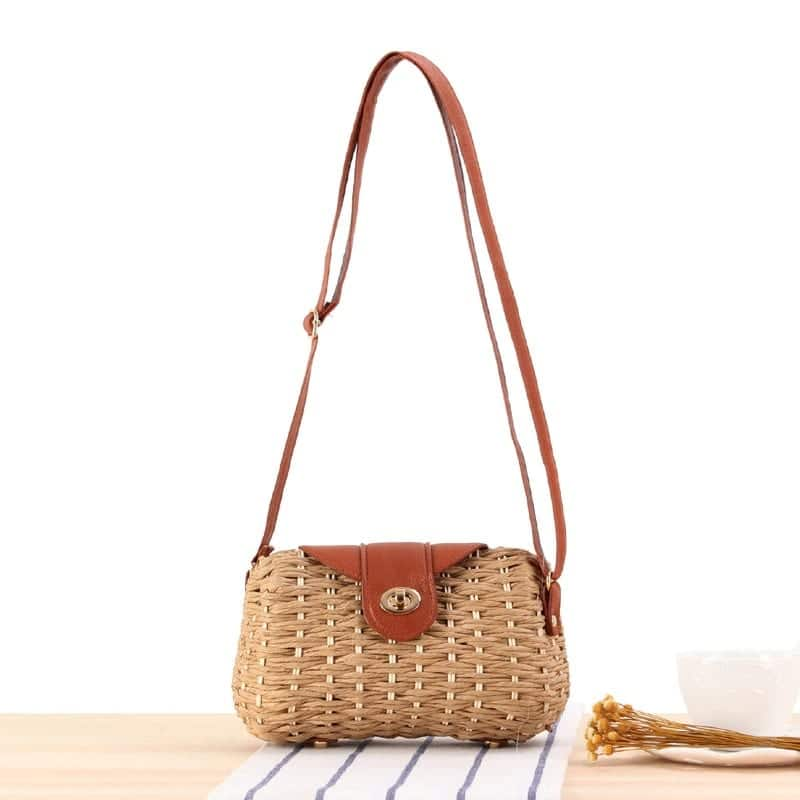 Which basket designer straw bag