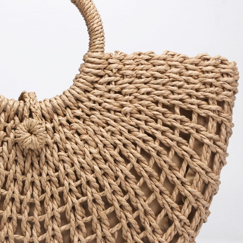 Straw basket bags on sale good