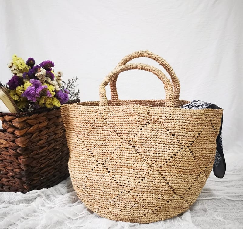 What colorful woven leather handbags recomment