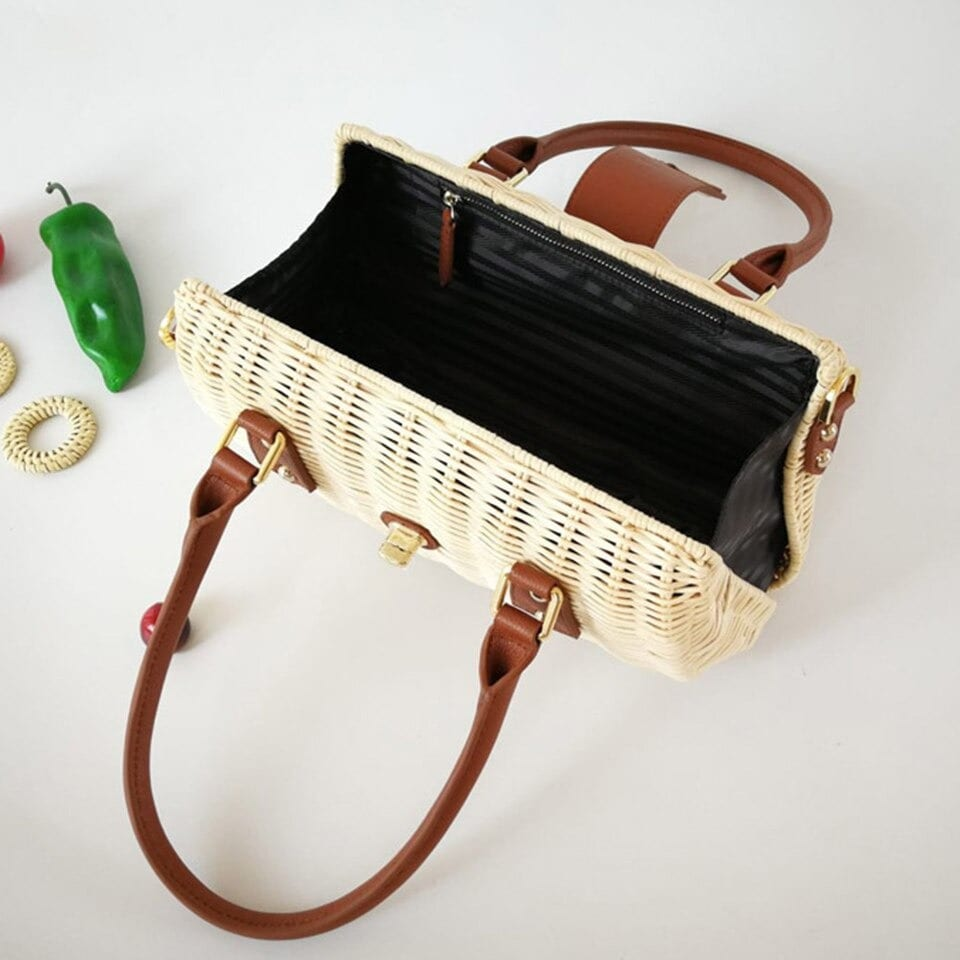 Party straw beach tote