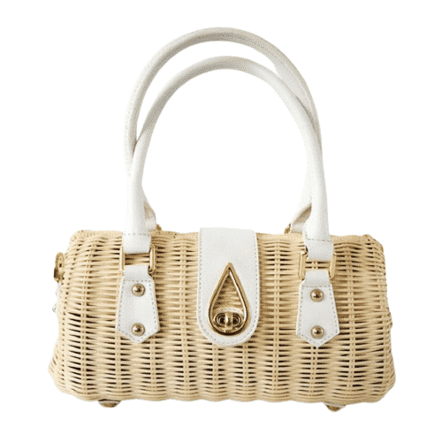 Why sale straw bag with leather handles