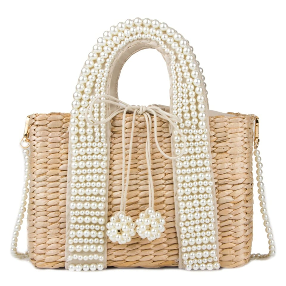 Navy straw beach tote suggest