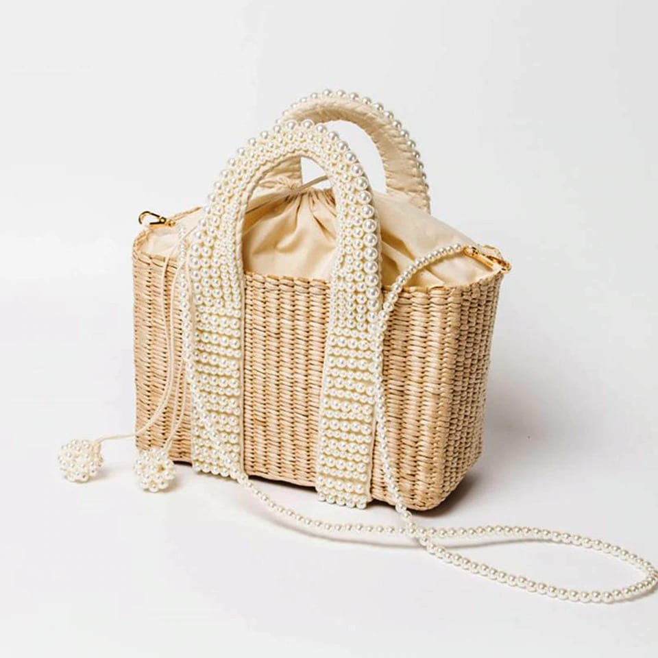 How long bali round straw bags top