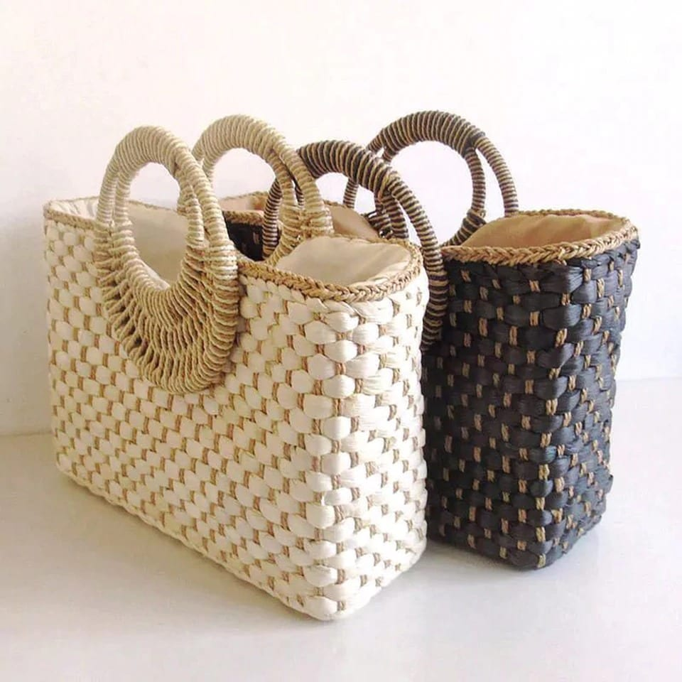 Woven backpacks and totes