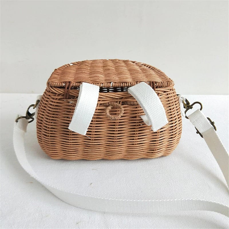 Which straw bag with leather handles online quality
