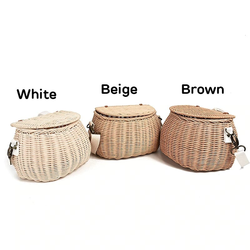 Designer straw bag rattan