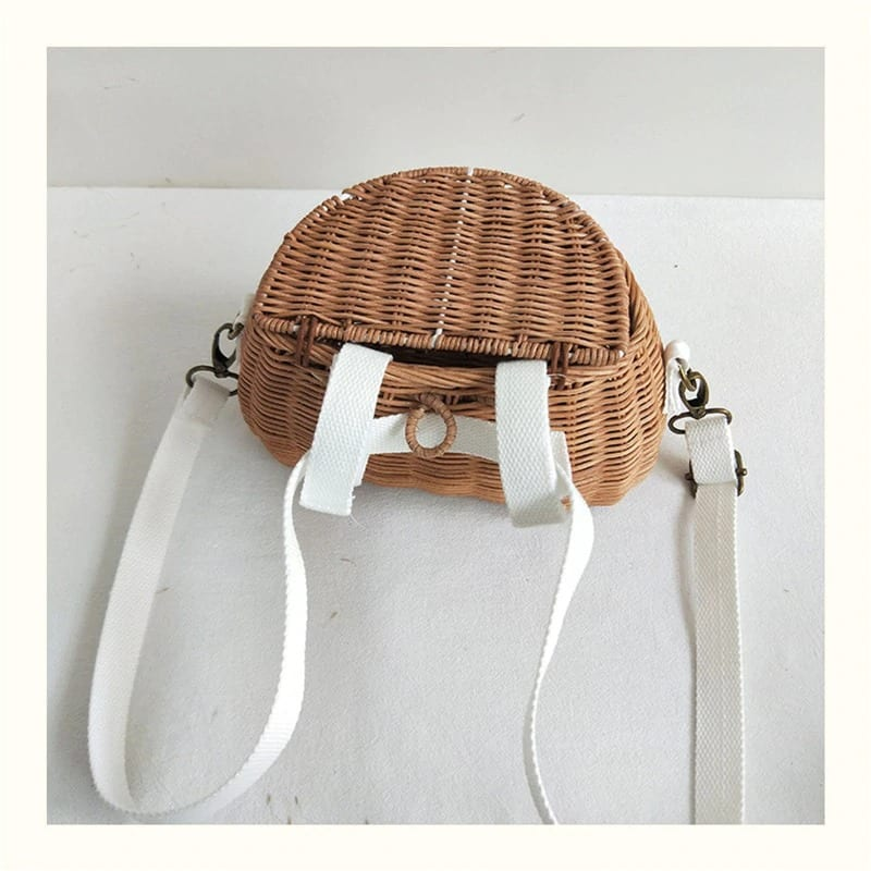 How long vacation straw basket bag