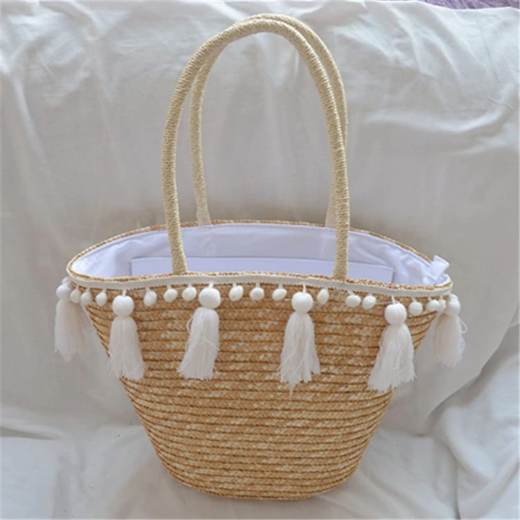 Rattan and wicker backpack