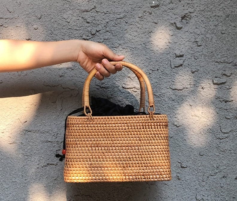 Hard rattan purse best