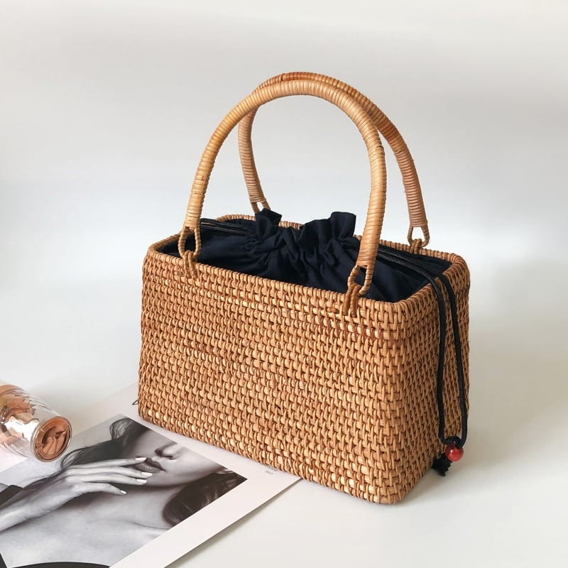 How designer straw handbag and clutches