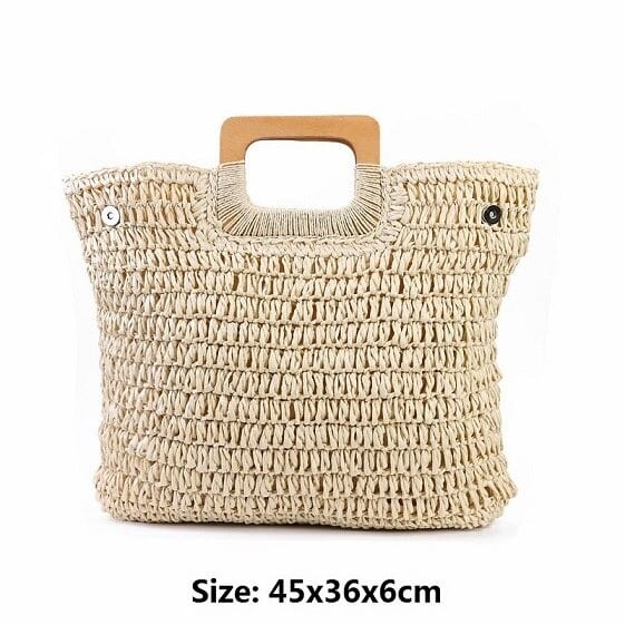 How handle summer straw purse best
