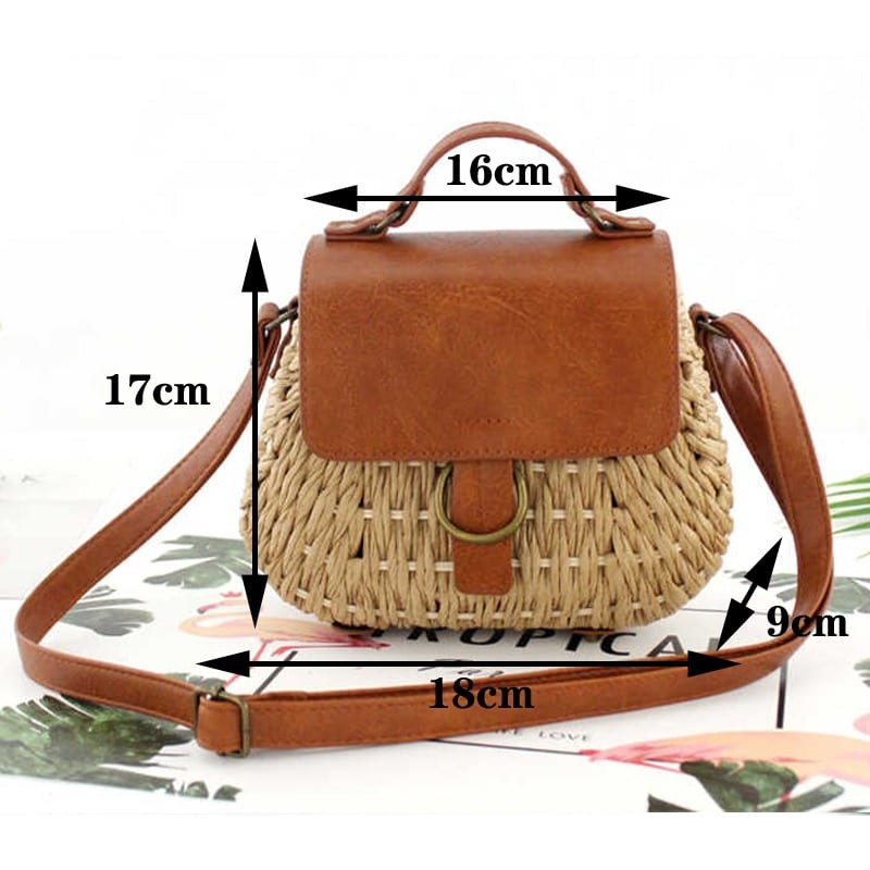 Where sustainable woven leather handbag value