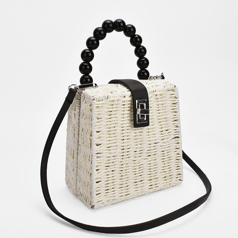 Casual small straw bag top