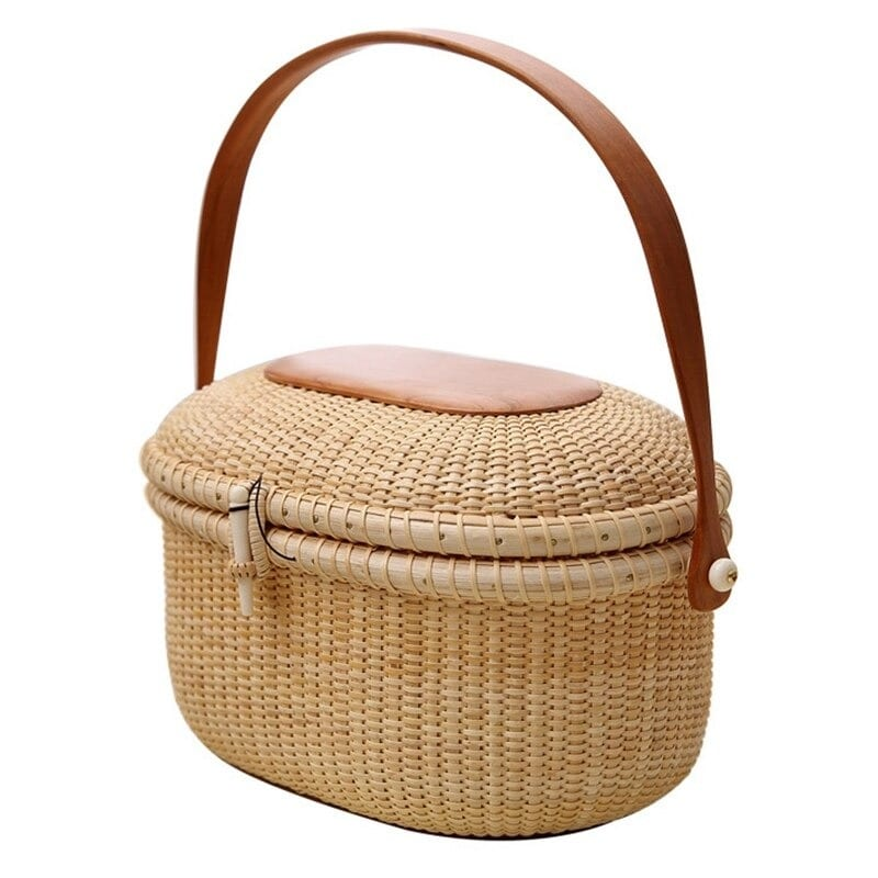 Straw tote handbag and clutches top