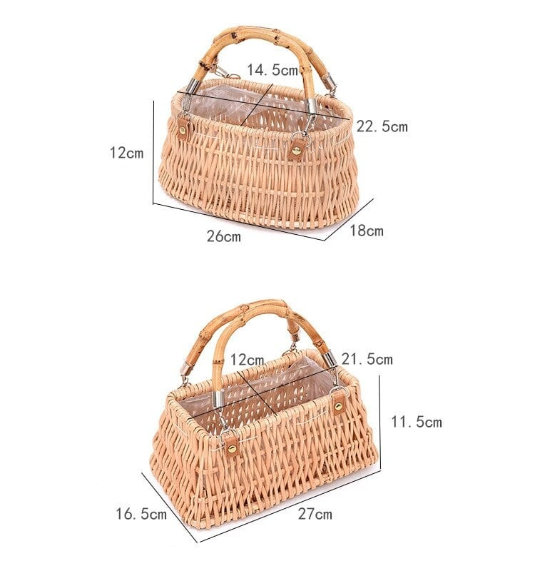 Straw clutch bags and totes