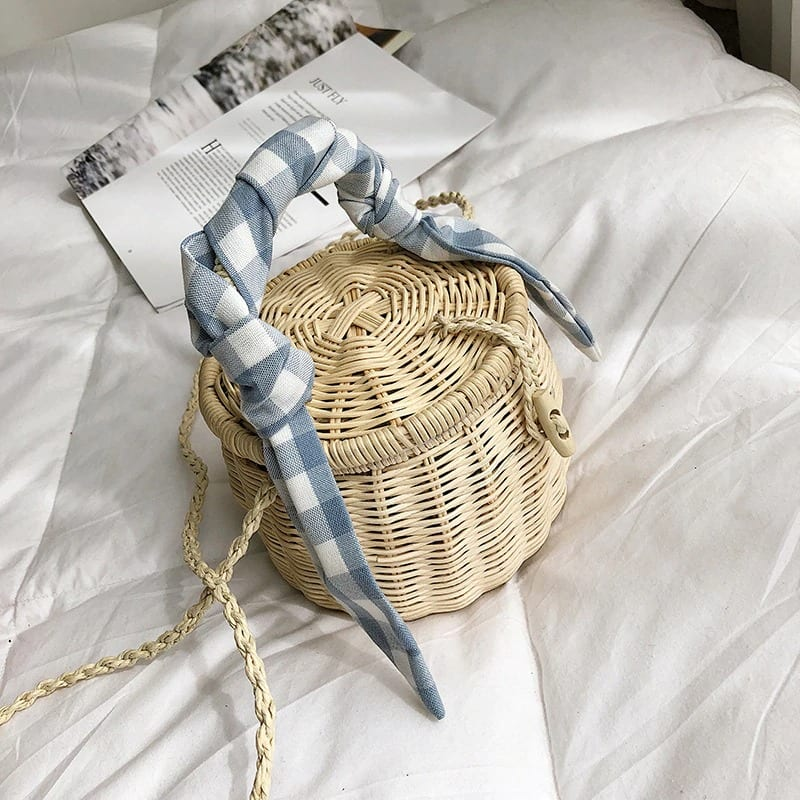 When stripped wicker handbag good