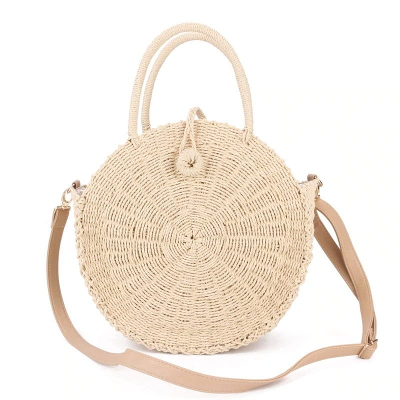 Travel rattan bag