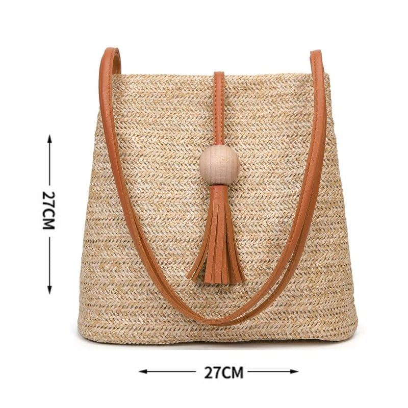 How many evening straw handbag