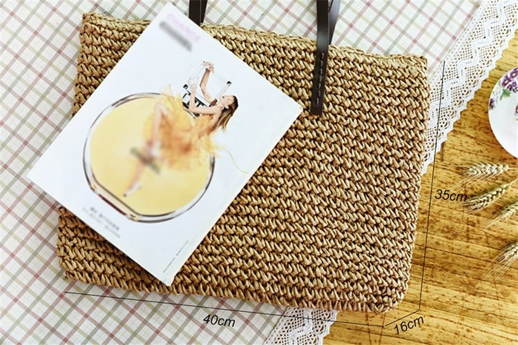 Which bali straw bag with leather handless