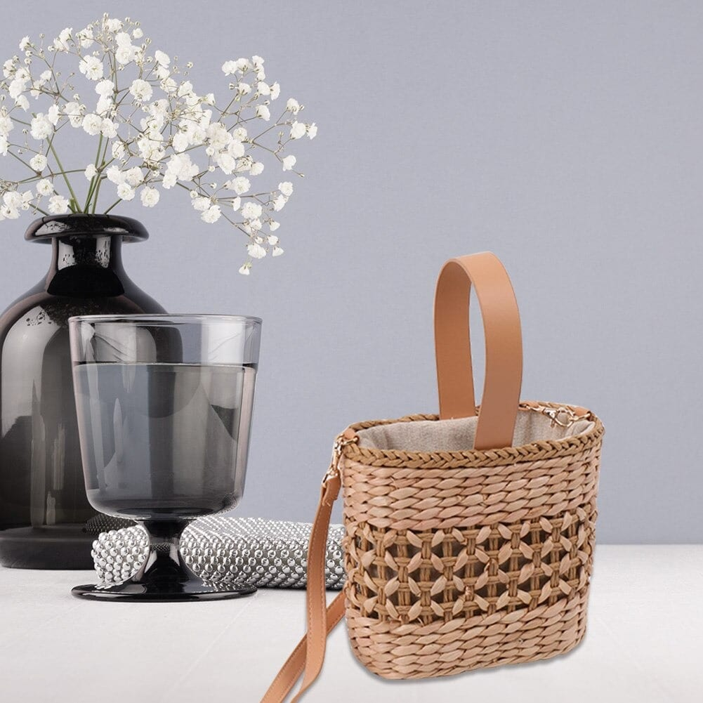Where evening rattan tote bag