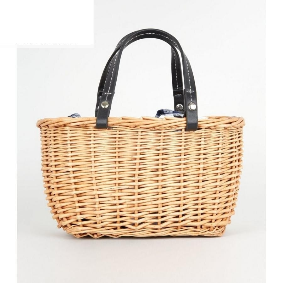 Small woven straw tote beach bags 2021