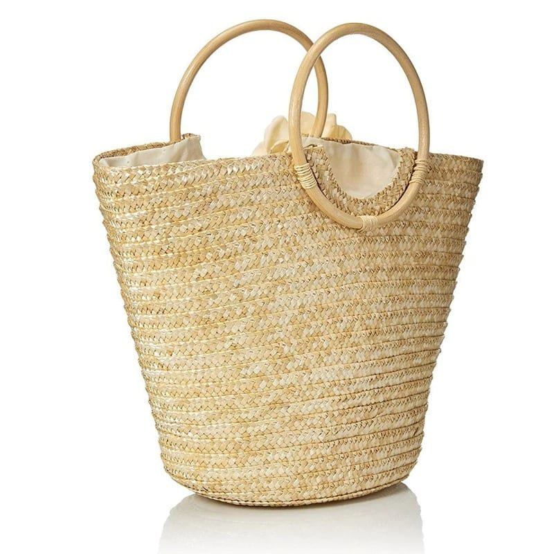 Wicker backpacks and totes