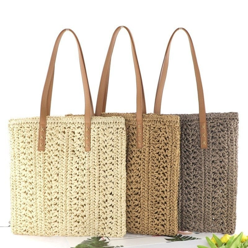 Bahamian woven beach bag quality