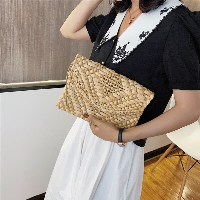 Extra large designer straw handbag best