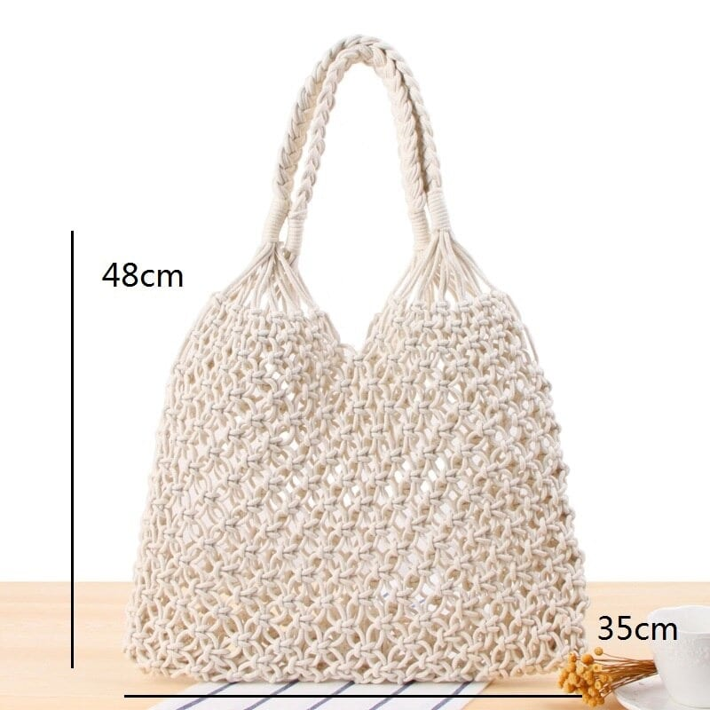 When white rattan tote bag