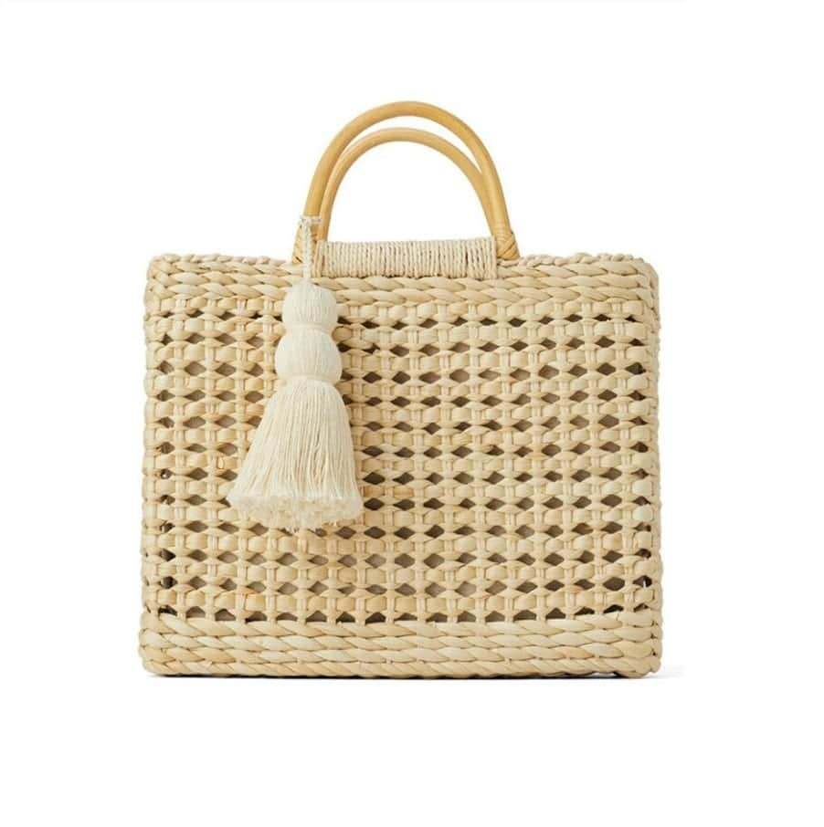 Which rattan and woven backpack