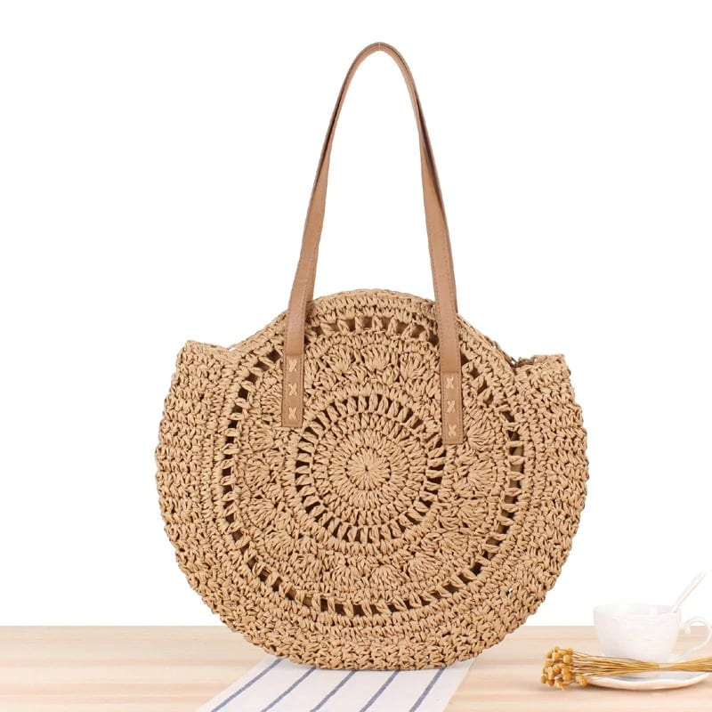 How much large straw beach bag and clutches
