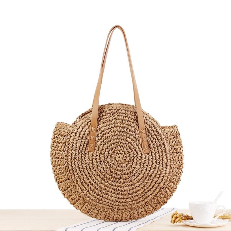 Where natural wicker backpack